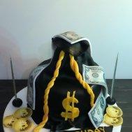 BTC Bitcoin Tasarım Pasta