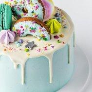 Macaron&Donut Turkuaz Cake
